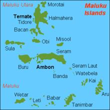 Morotai island, one of the Maluku Islands in Indonesia