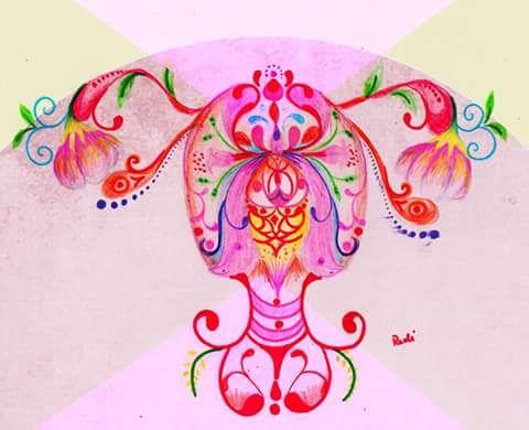 Resultado de imagem para utero menstruando arte