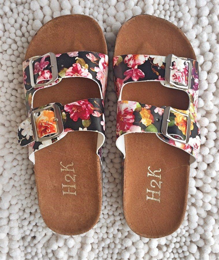 Double Buckle Sandals   10 Colors