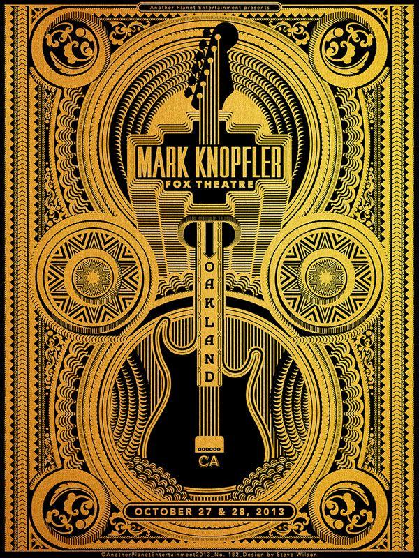 Steve Wilson Mark Knopfler Concert Poster Design Music Concert Posters Poster Art