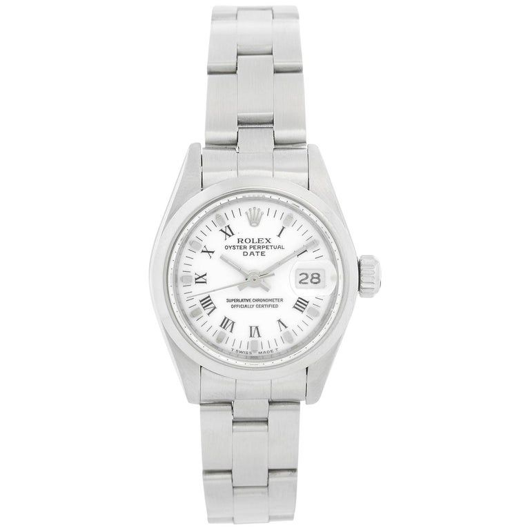 Rolex Ladies Datejust Stainless Steel Watch
