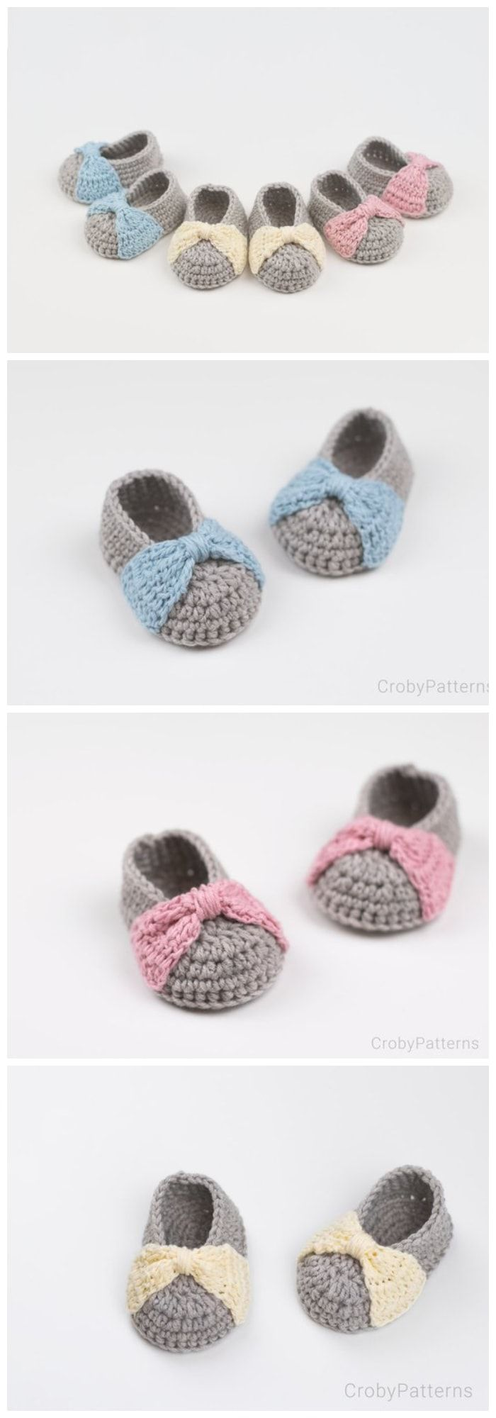 16 Free Crochet Baby Booties #crochetbabyshoes