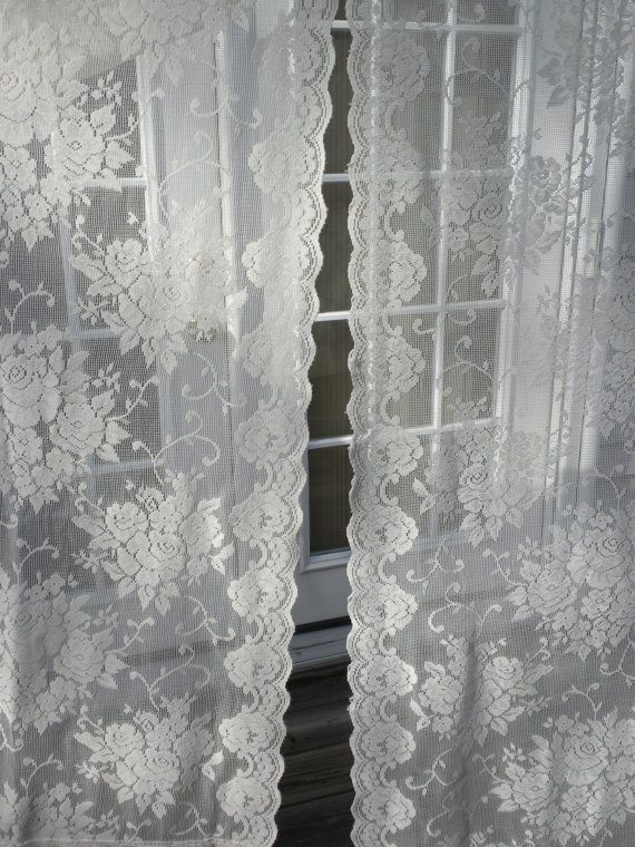 Curtains Ideas cheap lace curtain panels : 17 Best images about Curtains on Pinterest | Green banana ...
