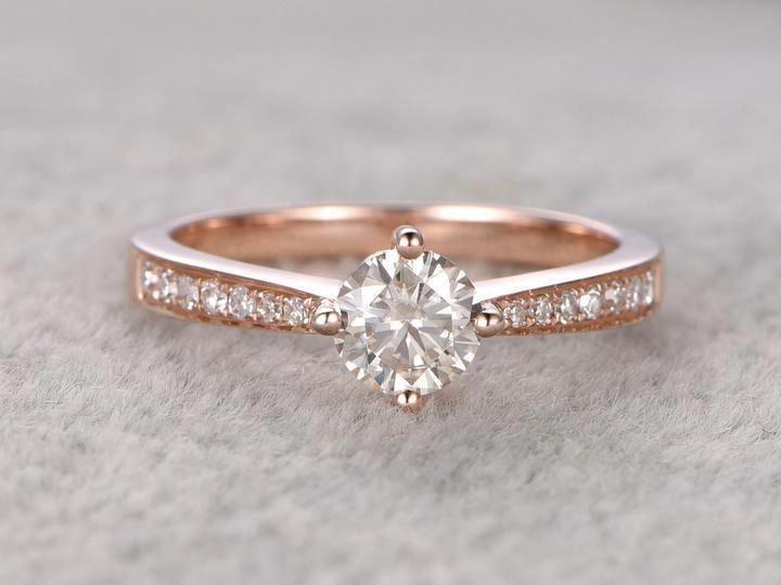 Vintage Diamond Earrings White Gold Bridal Earrings Vintage Drop Earrings Camellia Jewelry