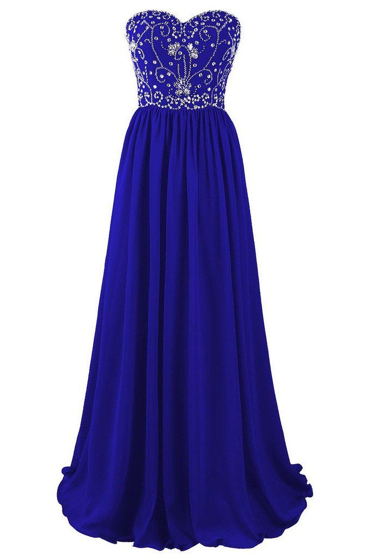 Beautiful Blue Long Prom Dress, #promdresses, #bluepromdresses ...