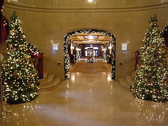Entrance hall, properly decked out.