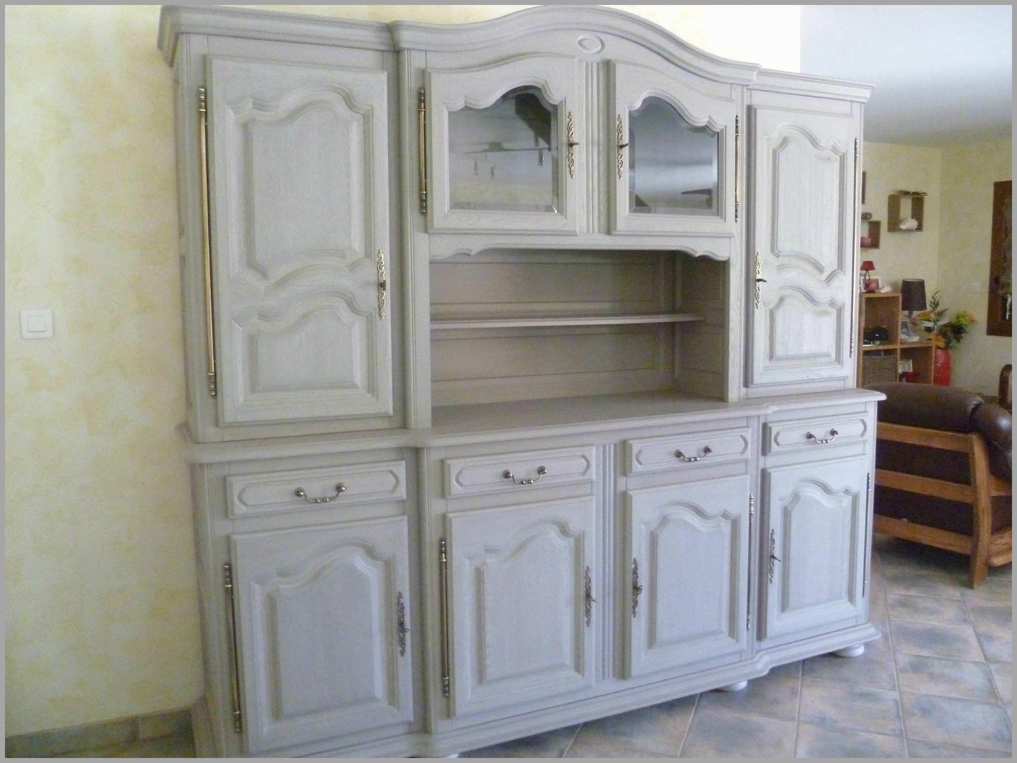 buffet chene repeindre meuble