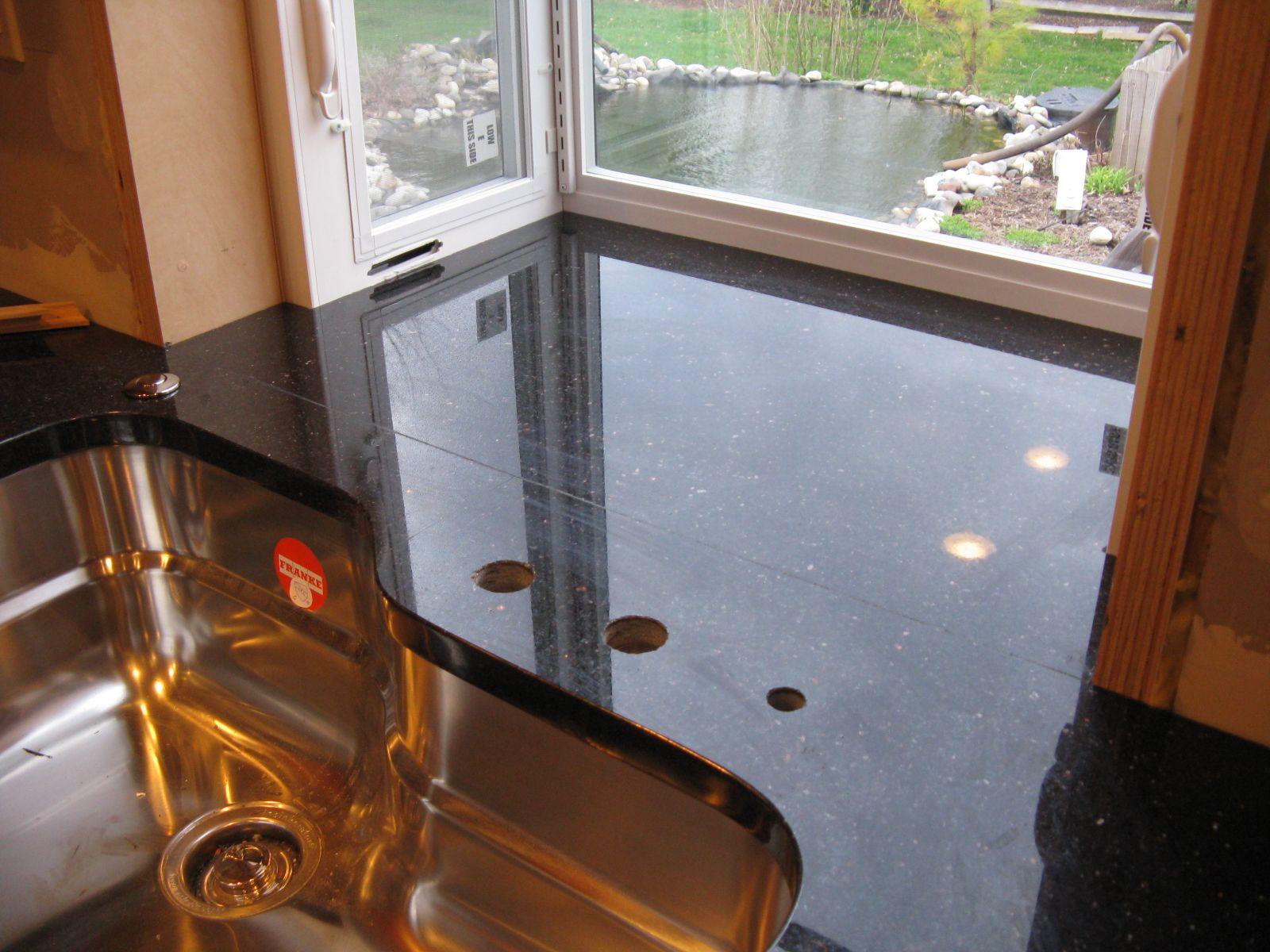 Kitchen Garden Window Flush Garden Window Install I Love How The Granite Goes All The