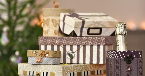 Papier: recouvrez des boîtes à chaussures de papier cadeau