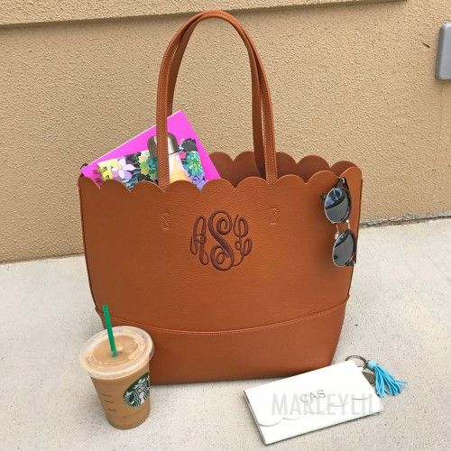 Monogrammed Purses Marleylilly Cognac Purse With Chocolate Monogram For 39 99