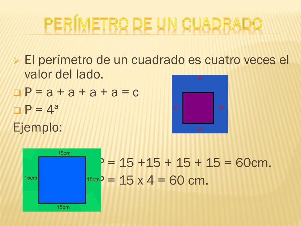 Perimetro De Un Cuadrado Con Imagenes Area Y Perimetro