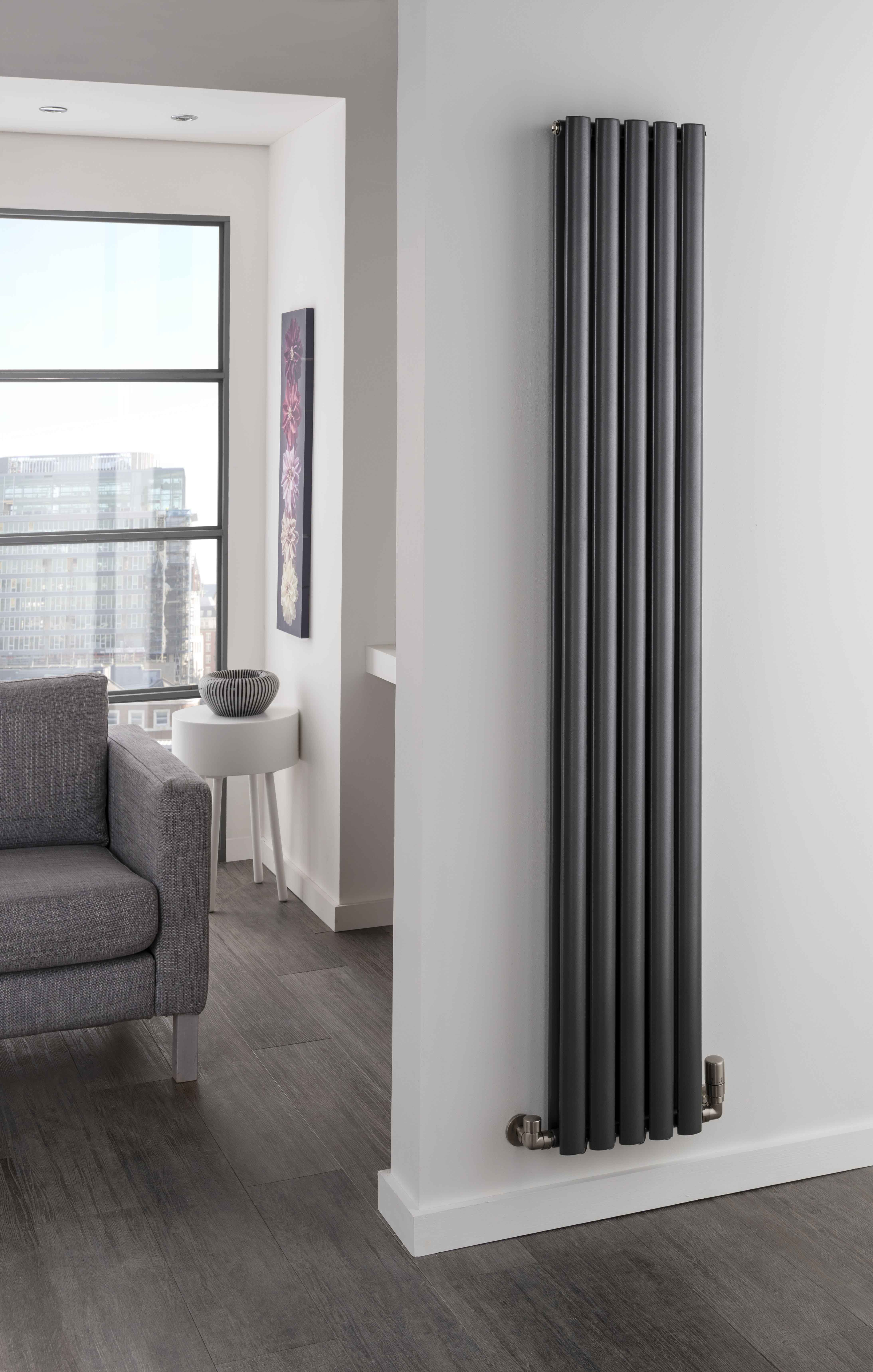 Designer Living Room Radiators: The Radiator Company Ellipsis Double Vertical Radiator