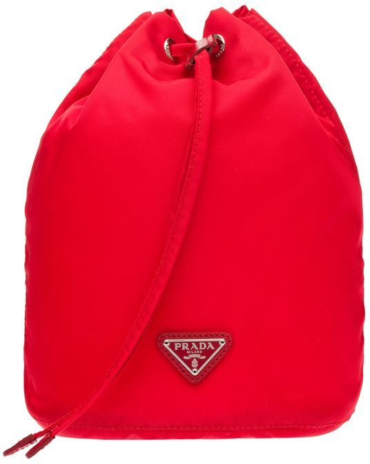 9bbda6ab16c9 Prada Vela Drawstring Pouch in Rosso