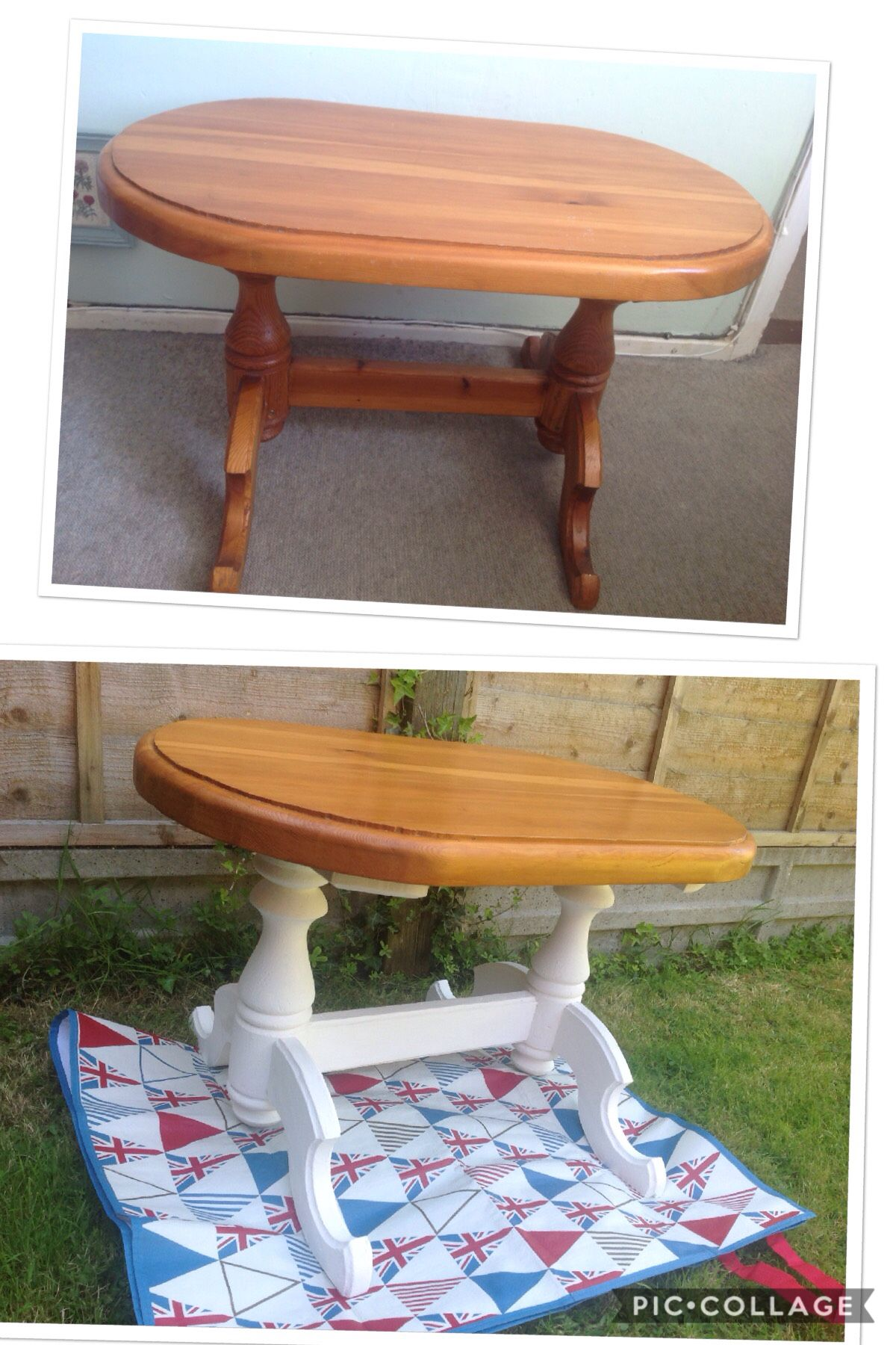 Upcycled Pine Side Table