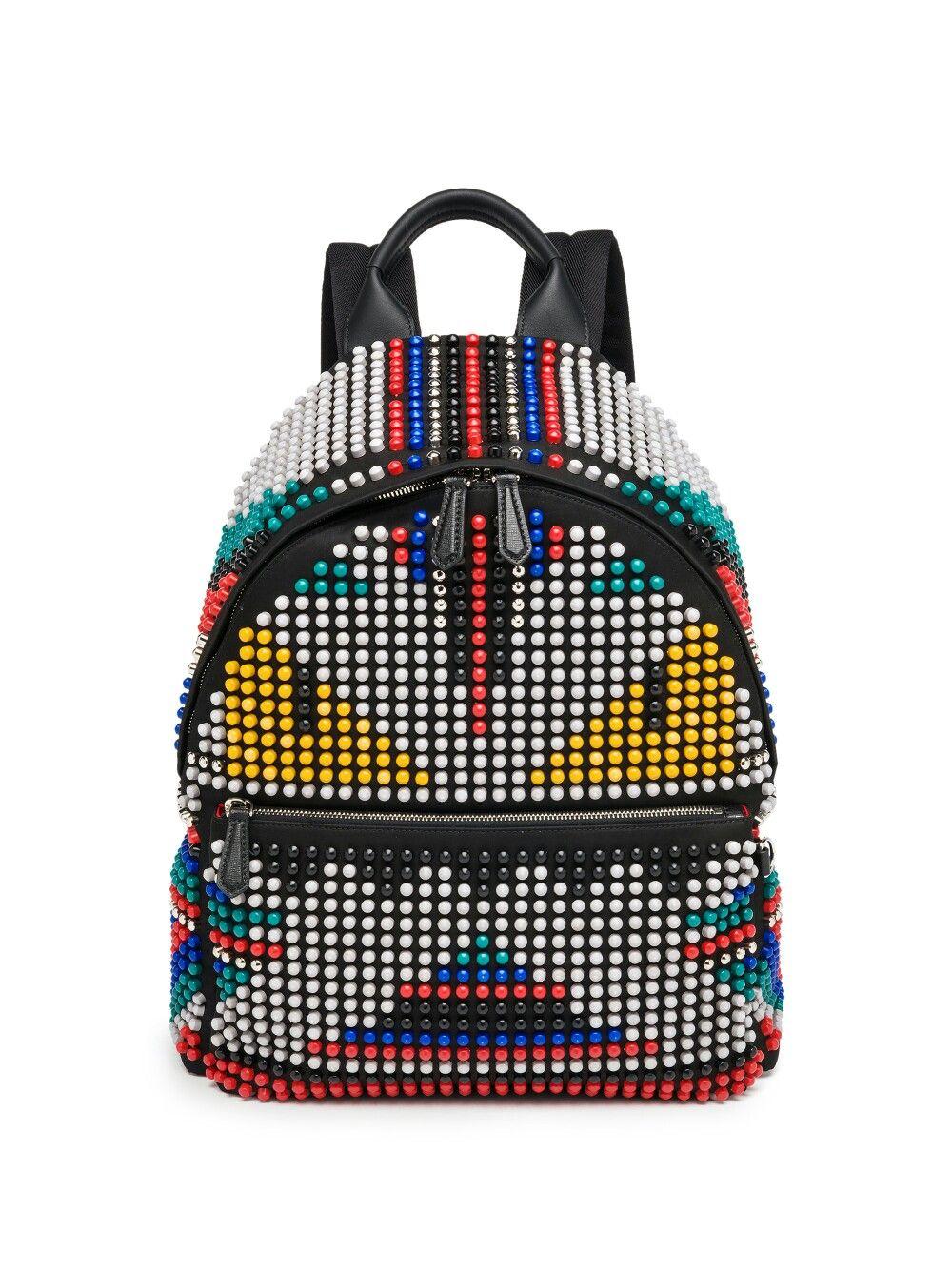 1ed150819885 Fendi Backpack, Studded Backpack, Rucksack Backpack, Fashion Backpack, Mens  Designer Backpacks,