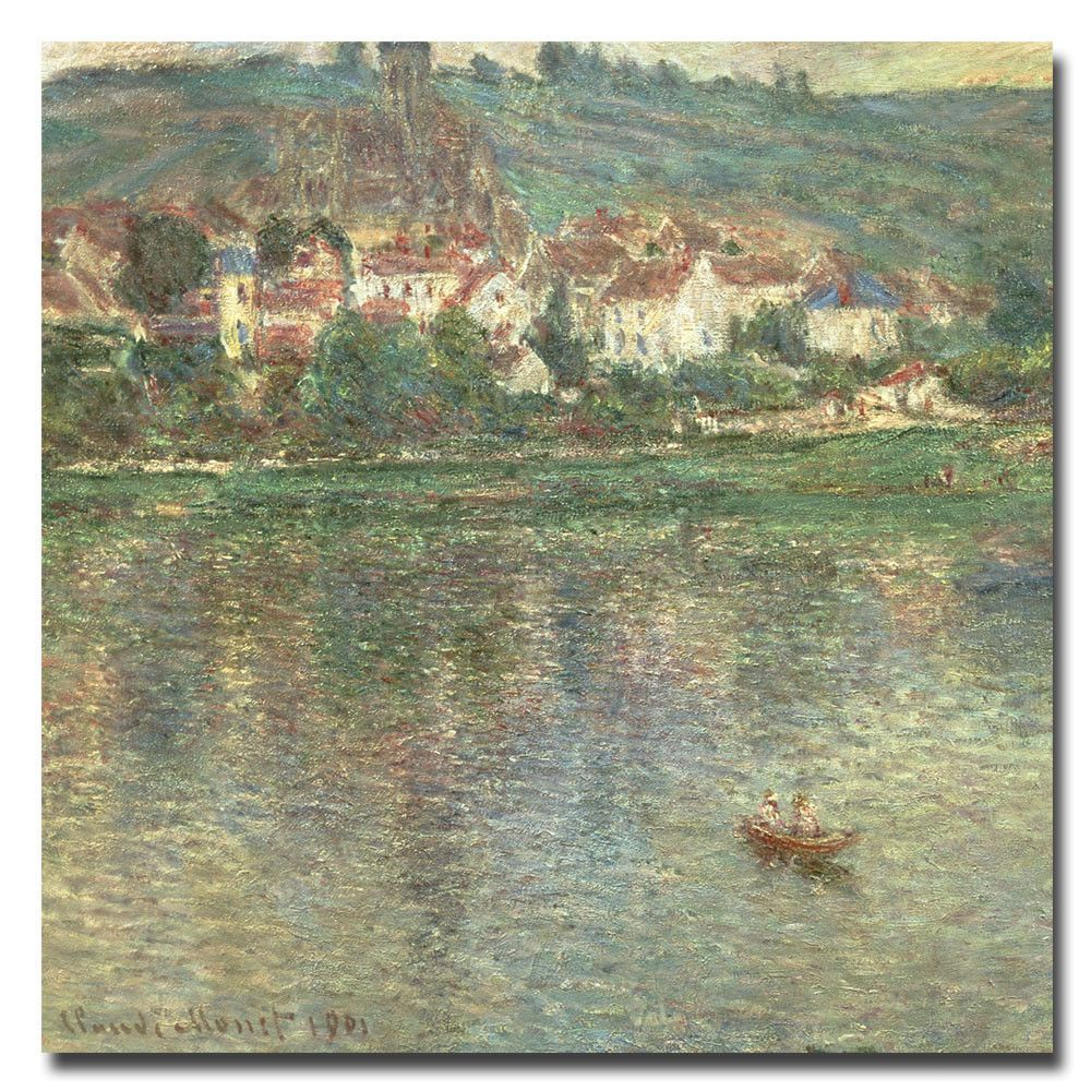 Vetheuil, 1901 by Claude Monet Painting Print on Canvas