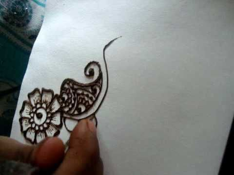 Mehndi Tattoo Flower Designs : ▷ how to draw simple floral henna design mehendi part i youtube