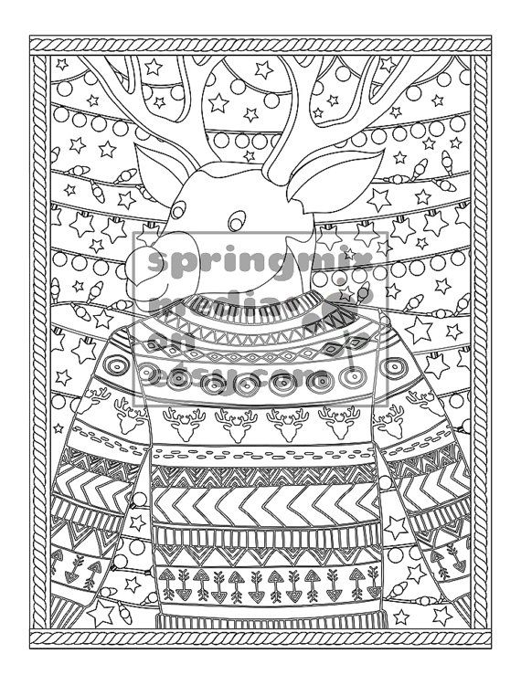 Printable Xmas Coloring Page - Christmas Treats Holiday Coloring - new christmas tree xmas coloring pages