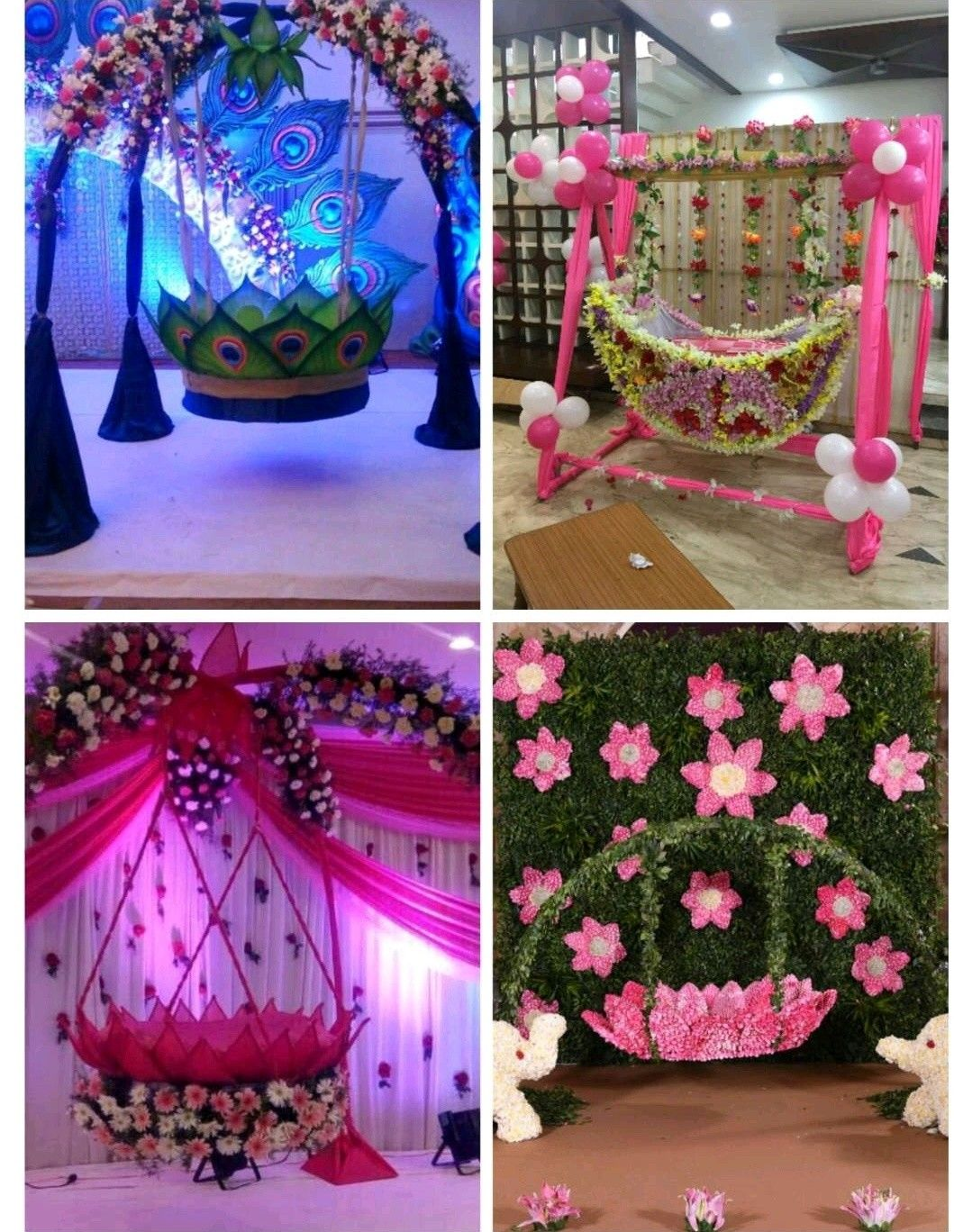Pin By Kshanada On Wedding Naming Ceremony Decoration Janmashtami Decoration Stage Decorations