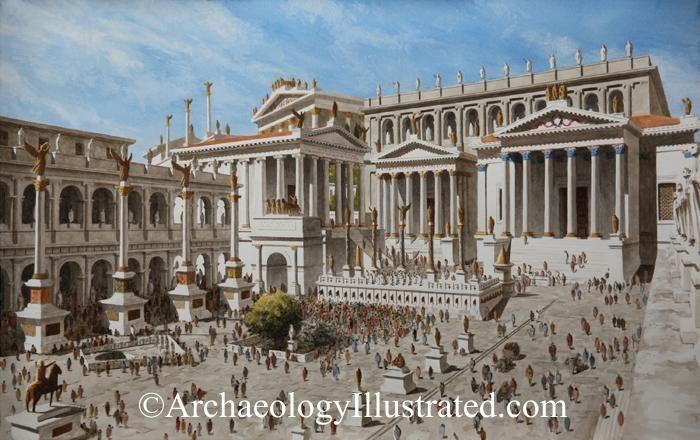 Roman Forum, 1st century AD  This reconstruction of the
