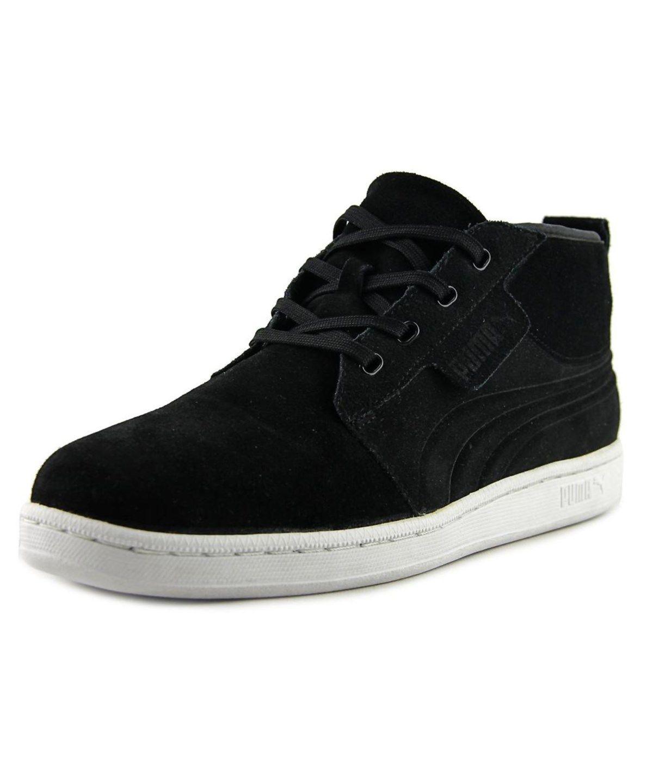 PUMA Puma Hawthorne Mid Men Round Toe Leather Black Sneakers'. #puma #shoes