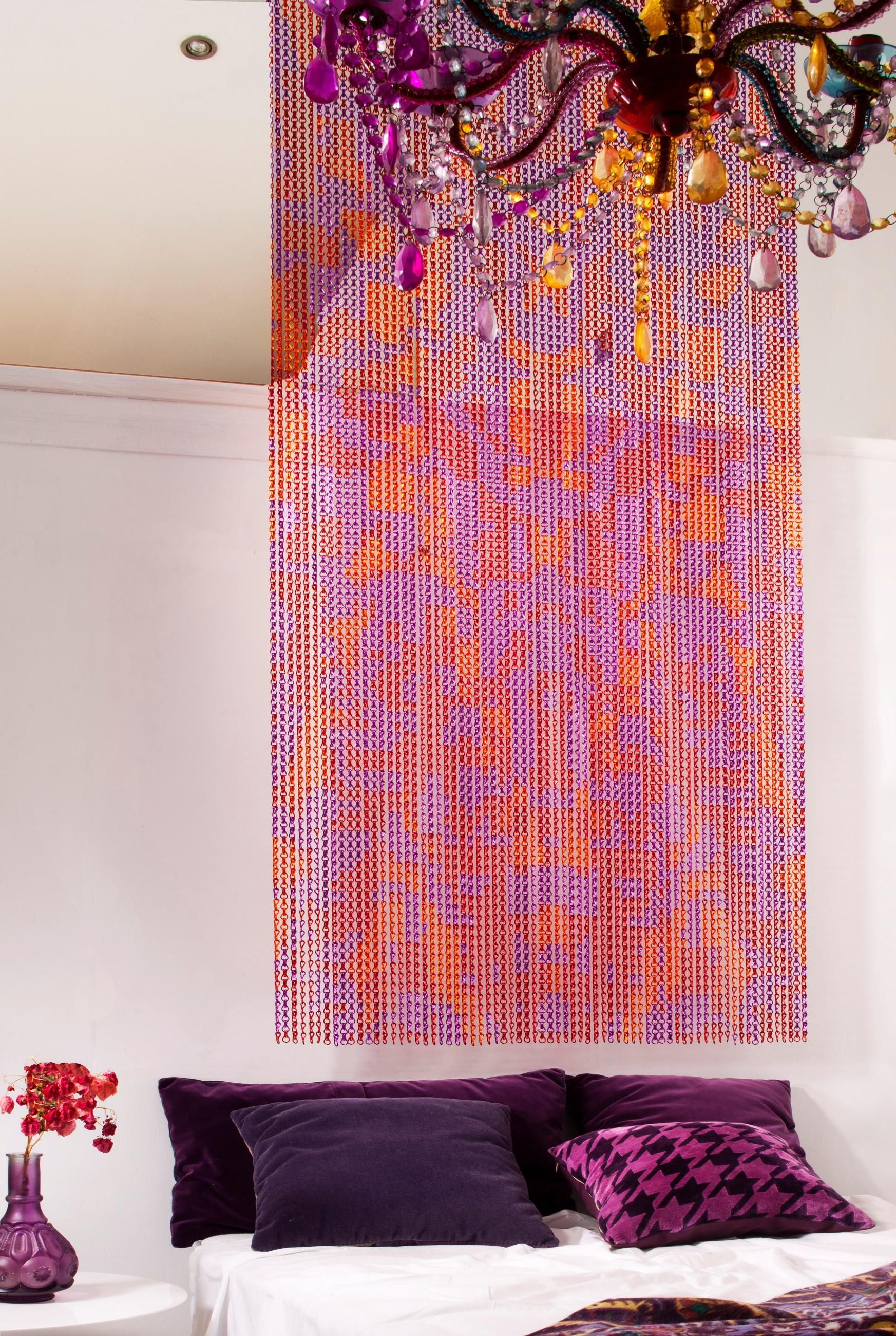Chain curtain divider - Kriskadecor Launches A New Line Of Aluminium Chain Art Curtains And Dividers Ready To Install