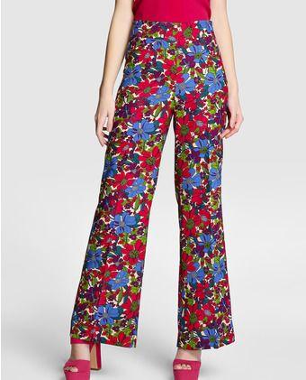 Pantalón ancho de mujer Tintoretto de flores