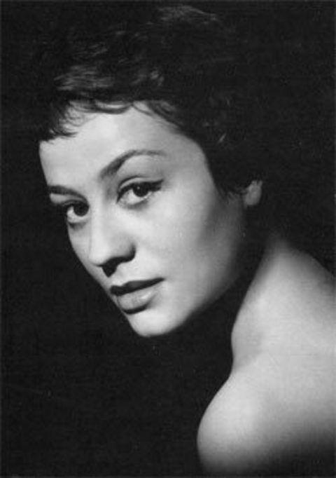 Annie Girardot Portrait Noir Et Blanc Actrice Francaise Girardot