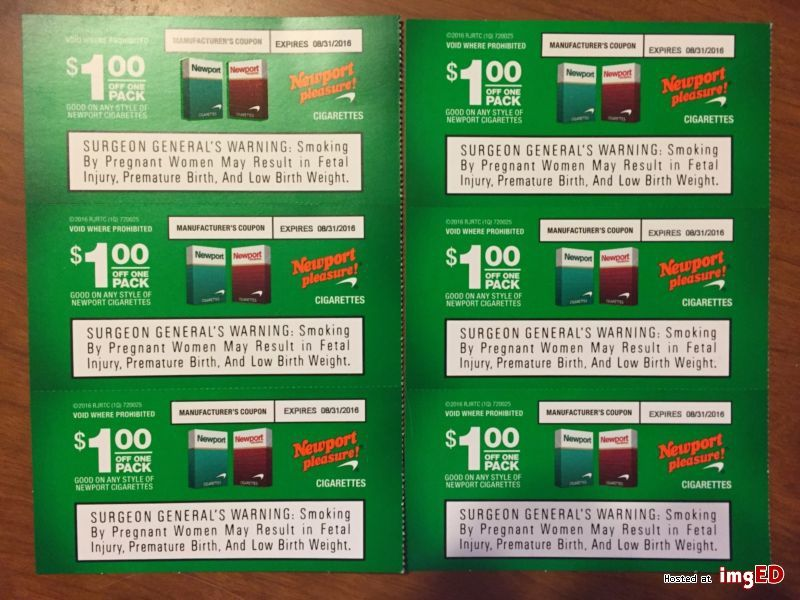 Newport cigarettes coupons 6 value image on imged in