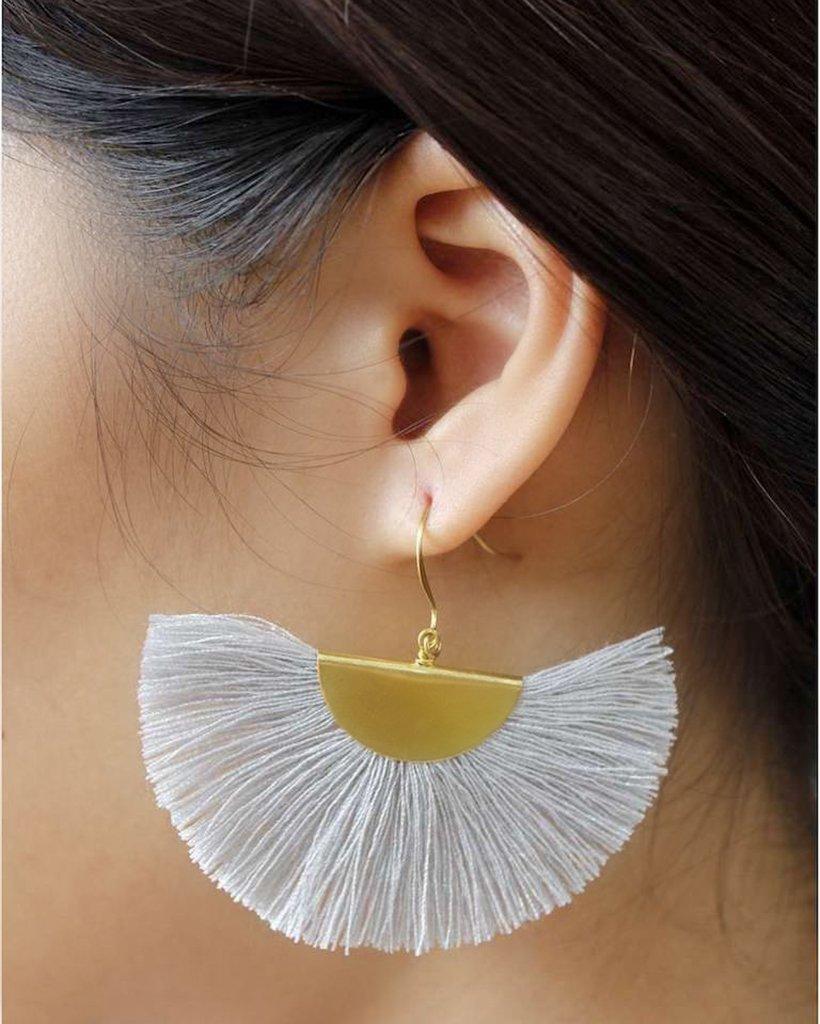 Fringe earrings Gold tassel earrings Tassel earrings Handmade jewelry Bohemian earrings Boho earrings Jewelry set Tassel bracelet