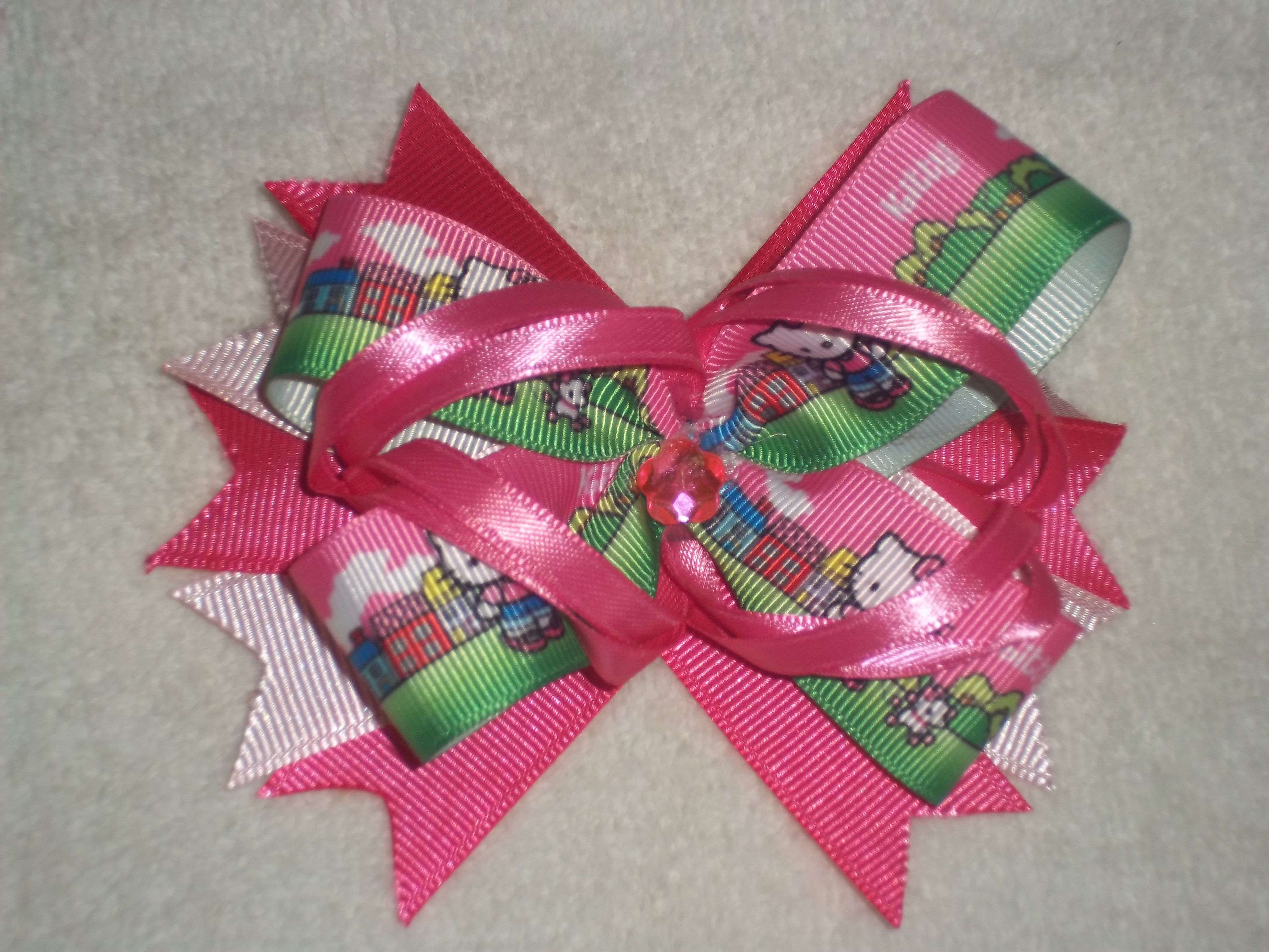 Hello kitty in pink hair bows for sale pinterest hair bows