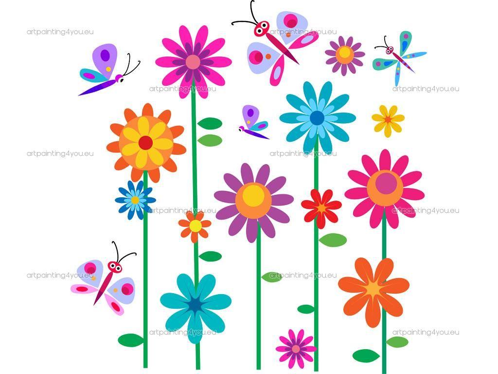 Flores para decorar paredes infantiles pesquisa google - Pintar paredes infantiles ...