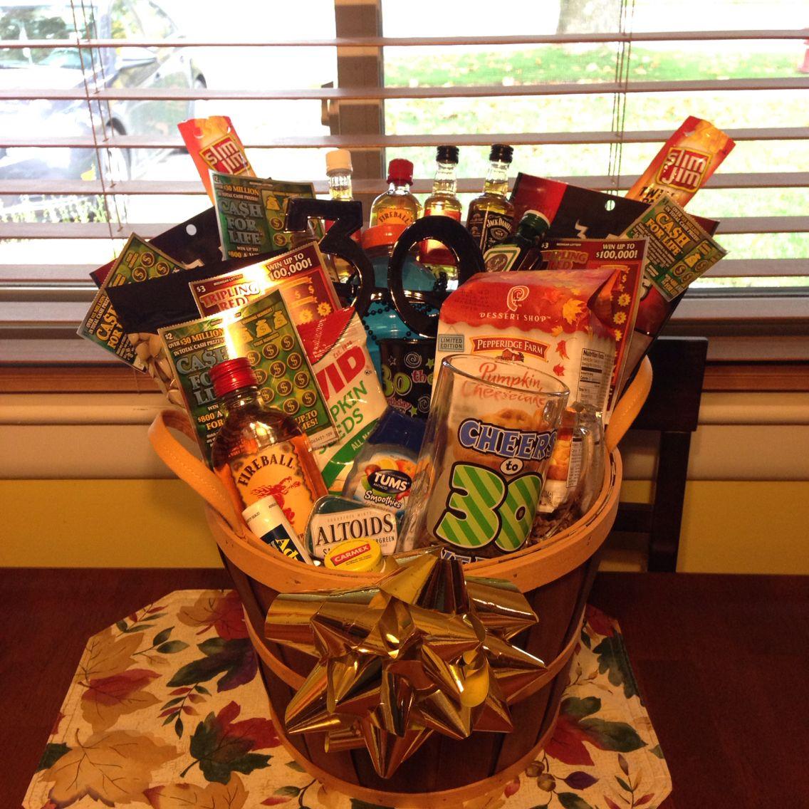 Men's gift basket (30th Birthday Theme) 30th birthday