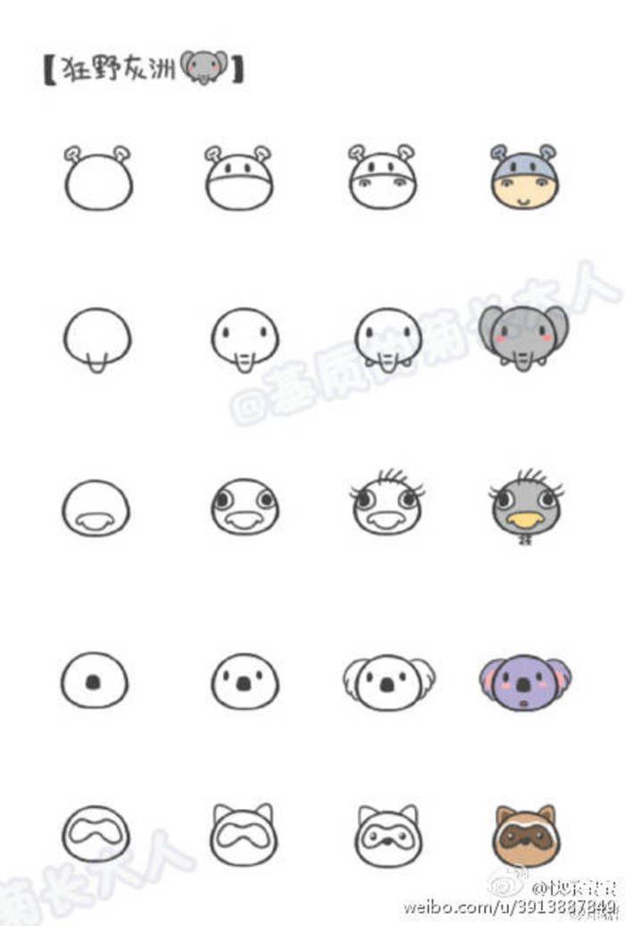 Animals From Circles Comment Dessiner Petit Dessin Mini Dessin