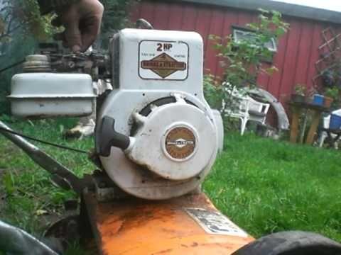 1973 Briggs & Stratton 2hp engine first start - YouTube   Work