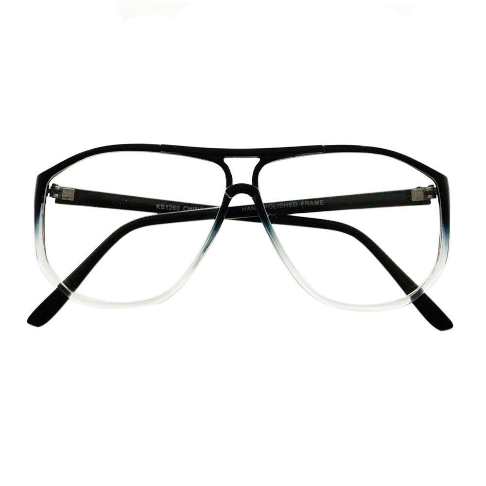 true retro vintage style clear lens aviator eyeglasses frames a1800