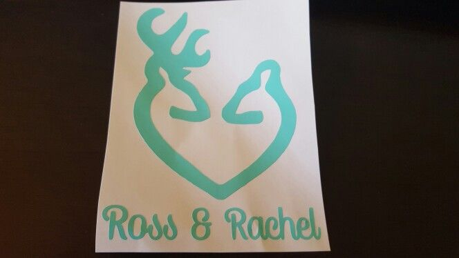 Deer Head With Names Decal. Available in Multiple Colors.