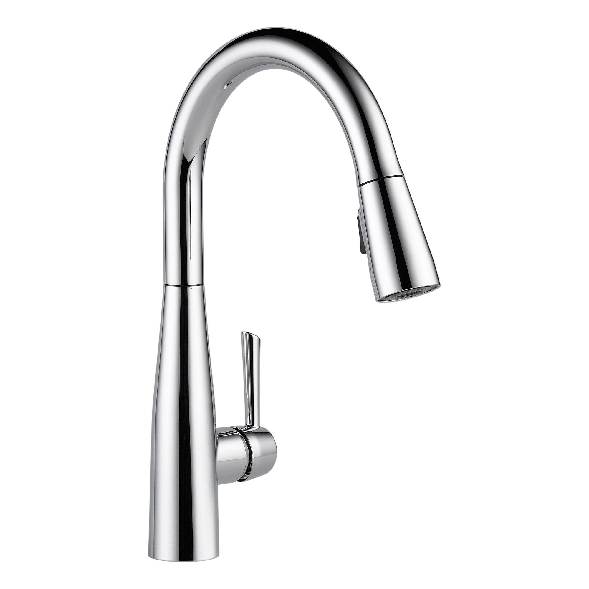 Delta Faucet 9113 Dst Essa Pull Down Kitchen Faucet With Magnetic Docking Spray Head Chrome Grey Delta Faucets Faucet Brass Faucet