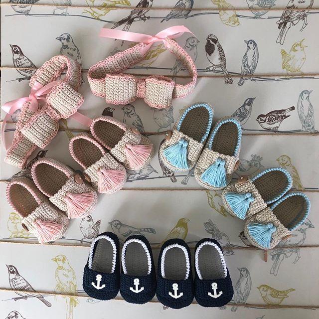 Tricoter les chaussons de bébé