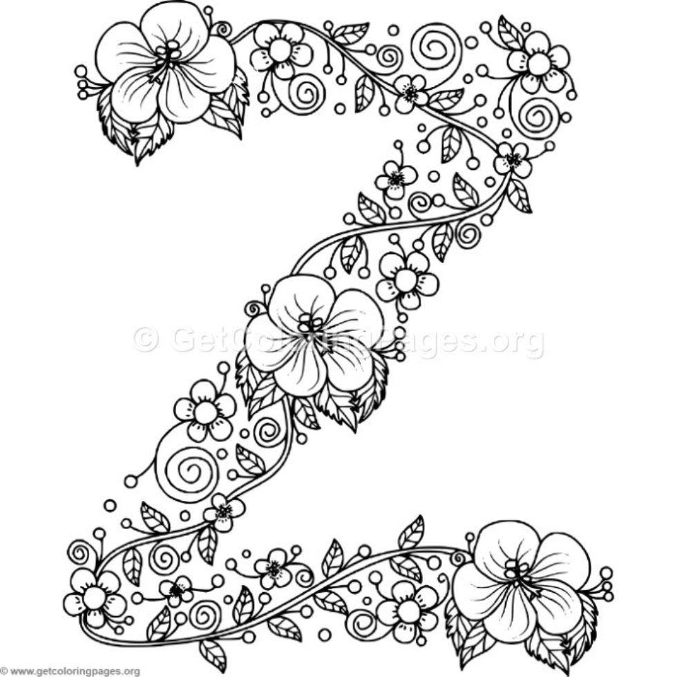 Search Results For Alphabet Page 18 Getcoloringpages Org Flower Coloring Pages Floral Letters Coloring Letters
