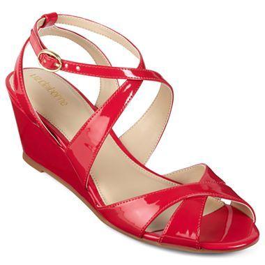 Liz Claiborne® Erin Crisscross-Strap Wedge Sandals - jcpenney