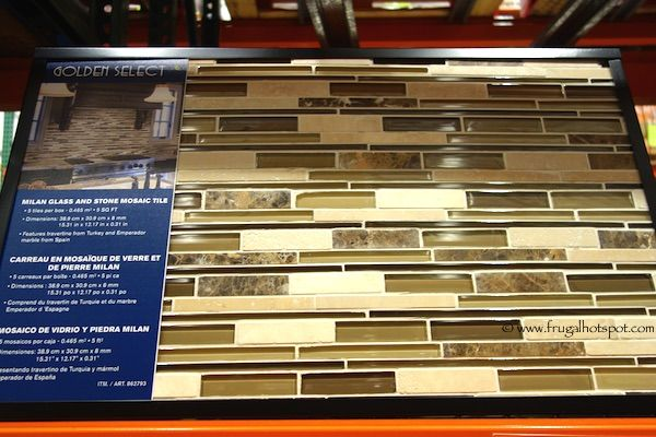 Costco Sale Golden Select Milan Mosaic Tile 5 Sq Ft Mosaic Tiles Kitchen Cabinet Remodel Mosaic