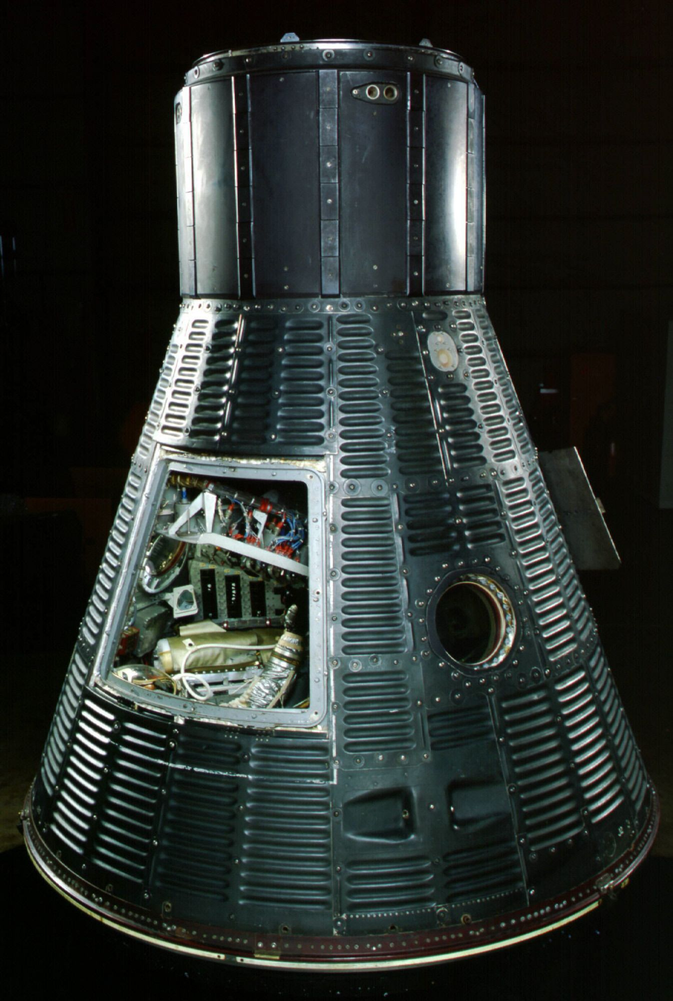 "Mercury ""Freedom 7"" capsule in which Alan Shepard became the first ..."