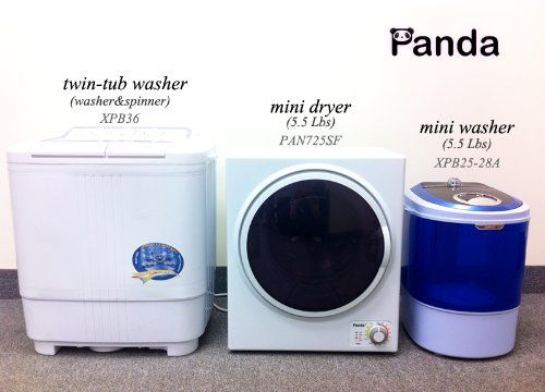 Panda Portable Compact Laundry Dryer Apartment Size 110v Stainless