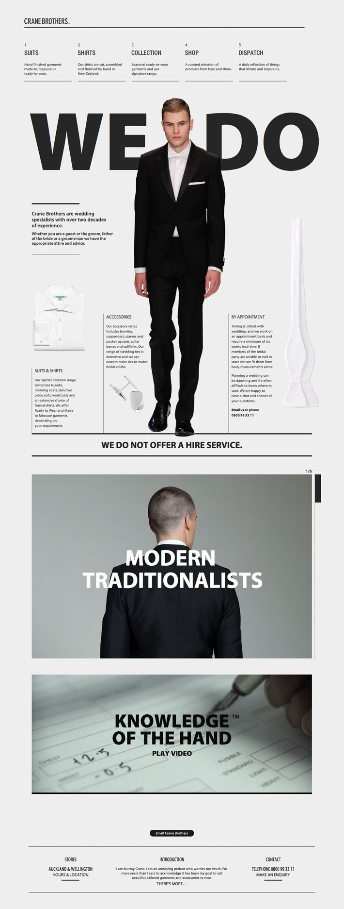 Crane Brothers #webdesign