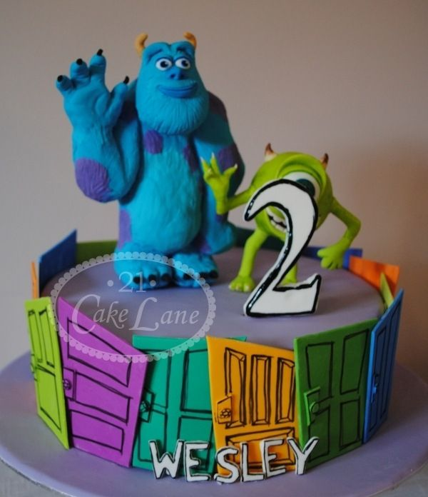 Great Monsters Inc Birthday Cake Birthday Cakes Monsters And