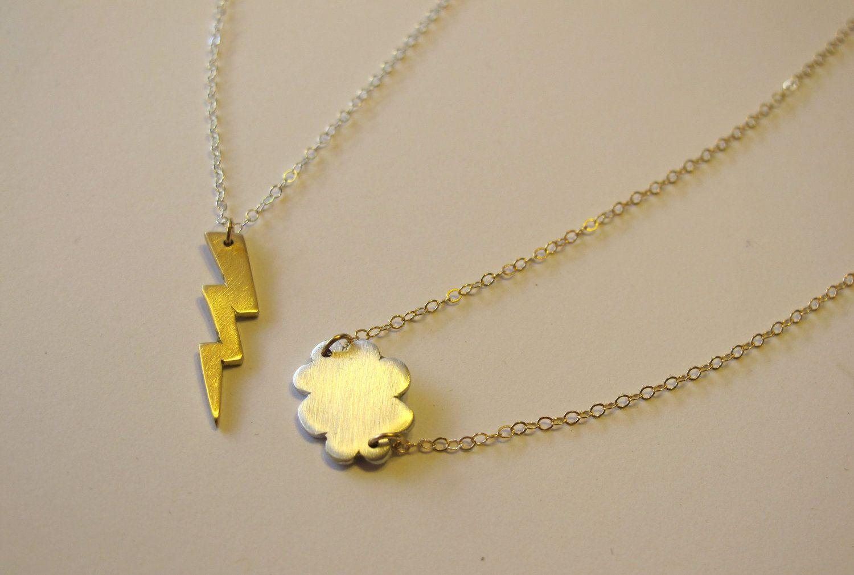 Best Friends Necklaces - Storm Cloud. $60.00, via Etsy.