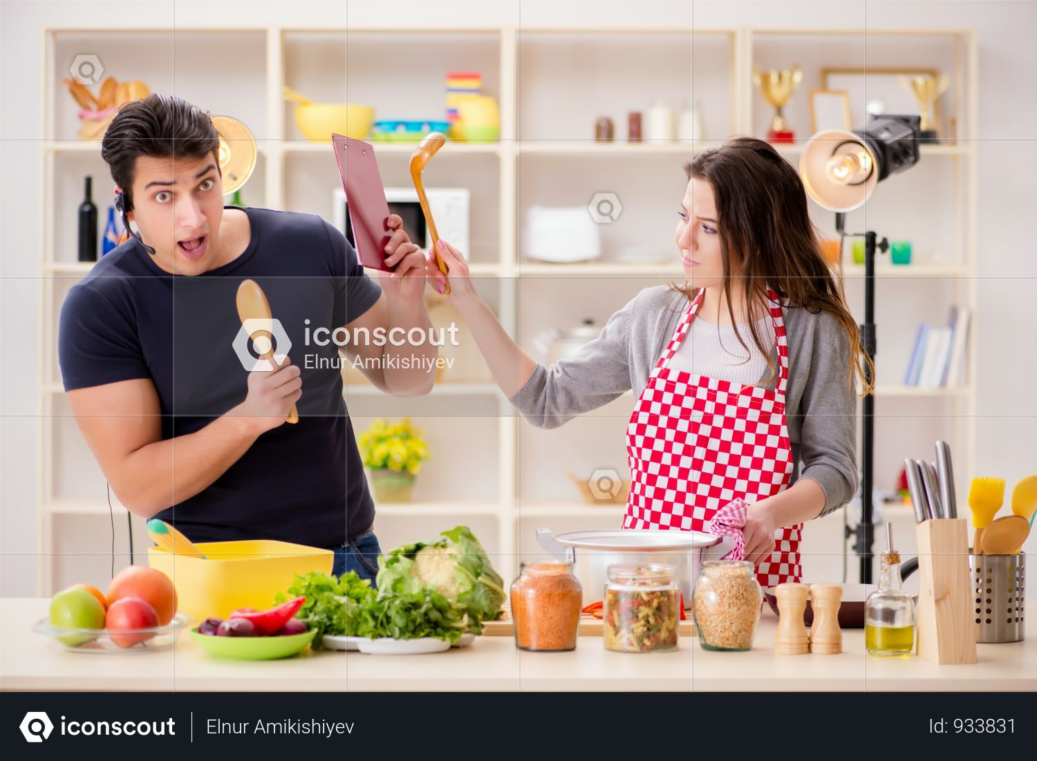Premium Food Cooking Tv Show In The Studio Photo Download In Png Jpg Format Cooking Tv Cooking Recipes Premium Food