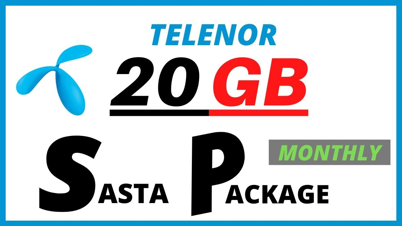 20 Gb Sasta Telenor Internet Monthly Package Telenor Net Pkg 2020 In 2020 Monthly Packages Told You So Trending Topics