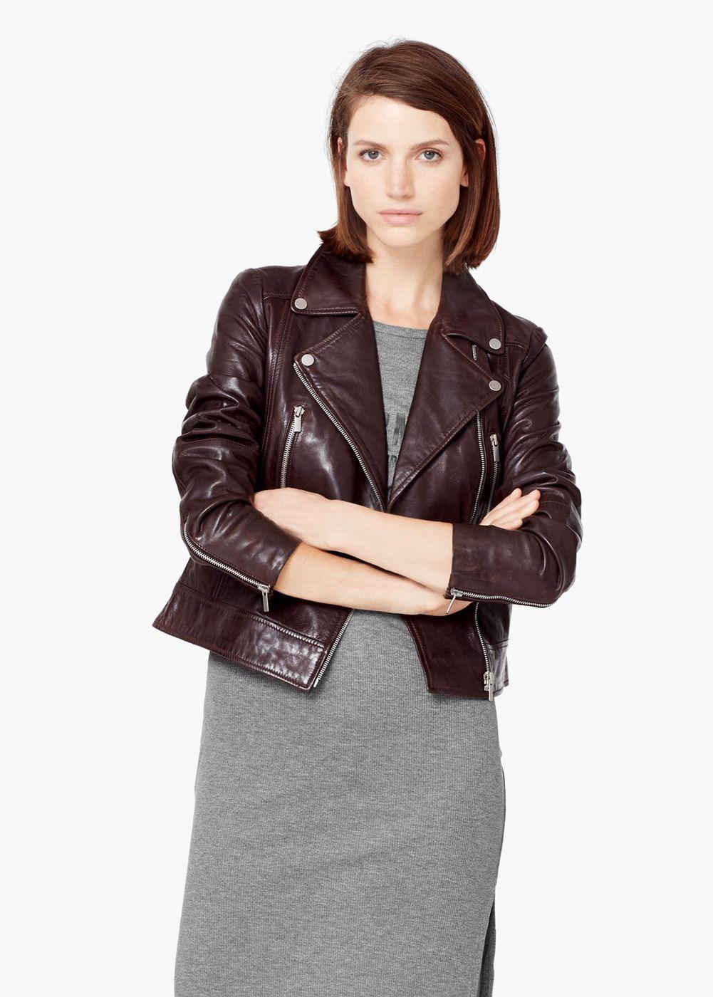 Leather biker jacket Women Jackets, Jackets for women
